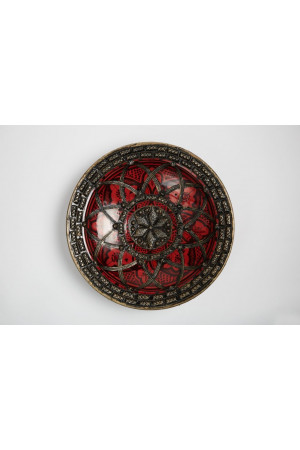 Flower Embroidery Plate