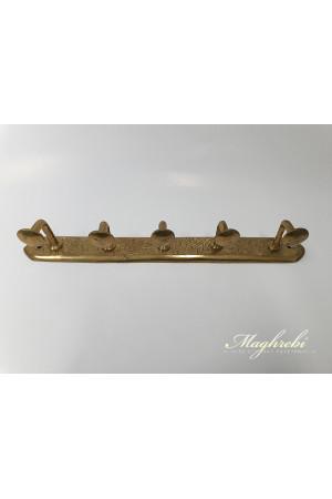 5-Hook Brass