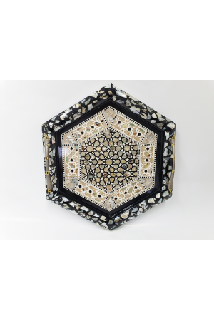 Mother of Pearl Tray - Hexagon